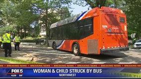 Woman, child struck by Metrobus in Northwest DC
