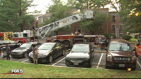 Family displaced from apartment after lightning strike in Gaithersburg
