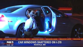 Police: Windows of several cars shattered on Interstate 270 in Maryland