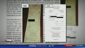 Man accused of leaving racist note instead of tip for Va. waitress says receipt is fake