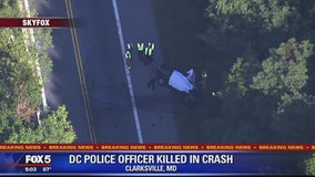 DC police officer killed in car crash with tractor trailer in Howard County
