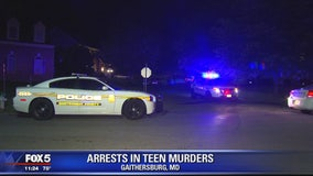 Police: 3 arrested in double-slaying of Maryland teens