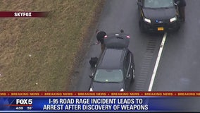 Va. man arrested after weapons, ammo found in vehicle following road rage incident in Maryland