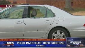 Police investigating triple shooting in SE DC