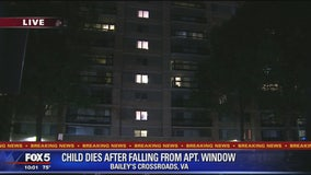 Child killed in Fairfax County after falling from window at apartment building, police say