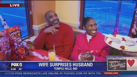 Wife sets up Valentine's Day surprise for husband