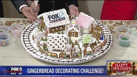 The art of decorating gingerbread houses for the holidays!