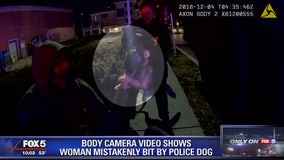 Body camera footage shows woman mistakenly bit by Takoma Park police K-9