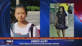 AMBER ALERT: 12-year-old Chinese girl abducted by woman at Reagan National Airport
