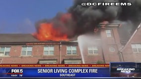 Senior residents displaced after large fire at Southeast DC public housing building
