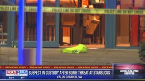 Suspect in custody after bomb threat made at Fairfax County Starbucks