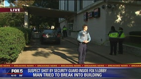 Armed security guard shoots suspect who tried to break into FOX 5's building