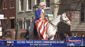 Old Town Alexandria celebrates George Washington, American history with Presidents' Day parade