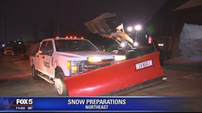 Snow preparations in DC area