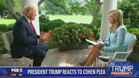 President Trump denies wrongdoing, says Michael Cohen is 'making up stories'