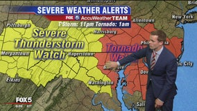 Severe thunderstorm watch in effect for much of DC area, tornado watch areas northeast