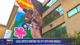 Artists helping brighten and revitalize DC neighborhoods as part of MuralsDC project