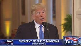 Trump celebrates GOP gains, spars with CNN reporter