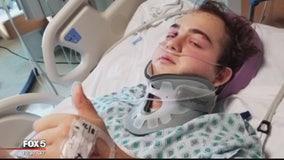 Virginia teen undergoes 4th surgery after hit-and-run crash where he was thrown off Manassas bridge