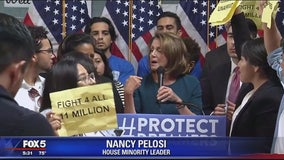 Young immigrants shout down Democratic leader Nancy Pelosi
