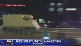 National Guard officer charged with stealing armored vehicle from base, police say