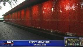 Poppy Wall Memorial honors fallen service members for Memorial Day
