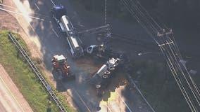 Multiple trucks involved in Upper Marlboro crash