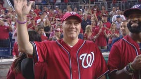 Congressman Steve Scalise throws out first pitch at Nationals-Cubs playoff game
