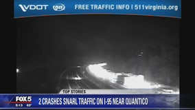 2 crashes snarl traffic on I-95 in Prince William County