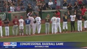 House Majority Whip Steve Scalise returns to the field for Congressional Baseball Game