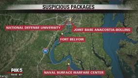 FBI investigating suspicious packages at DC-area military bases