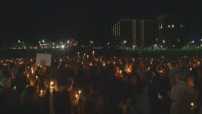 Peaceful candlelight vigil held at University of Virginia in Charlottesville
