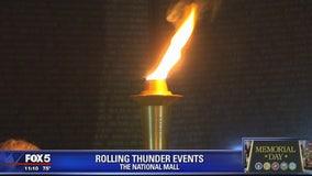 Rolling Thunder: Candlelight vigil held at Vietnam Veterans Memorial