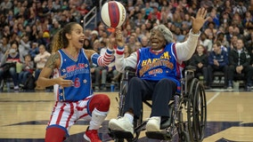 109-year-old DC woman spins basketball at center court of Harlem Globetrotters game