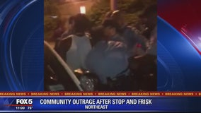 Crowd clashes with officers in same DC neighborhood where controversial search took place