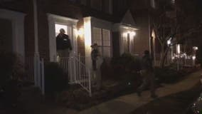 Raw Video: FBI raid home in Sterling