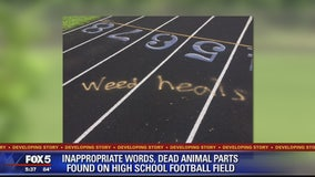 Prince William County high school vandalized with spray paint, dead animal parts