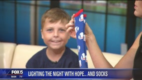 Hope, socks help Michael Erlandson as he battles cancer