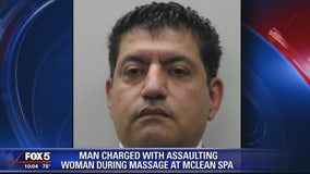 Man arrested for assaulting woman during massage appointment in Fairfax County