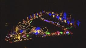 Beautiful Christmas light display illuminates home in Olney