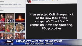 Mayor causes uproar after Facebook post calls for Nike boycott over Colin Kaepernick ad campaign