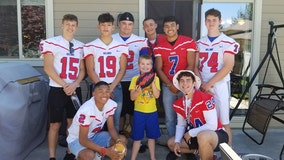 Football team shows up to birthday party of boy with autism after only 1 friend accepts invitation