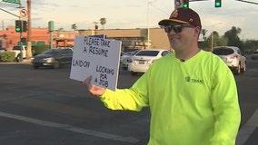 Arizona man finds job after panhandling his resume