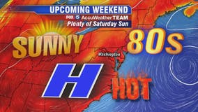Sunny, warm with isolated afternoon showers Friday; hot weekend ahead