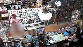 Video shows man casually entering cafe naked to get a cup of coffee