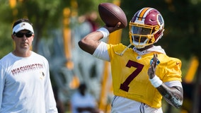 Redskins' Gruden: Haskins 'getting more comfortable' under center, LB Sweat adding practice reps