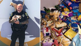 Police department accepts animal shelter donations in lieu of cash for parking tickets