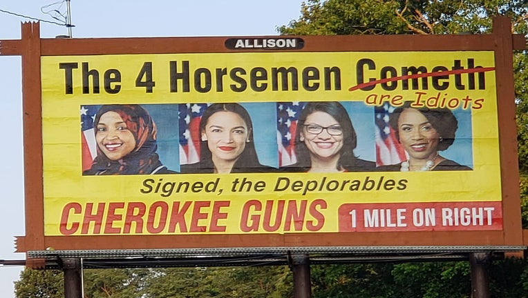Cherokee Guns billboard
