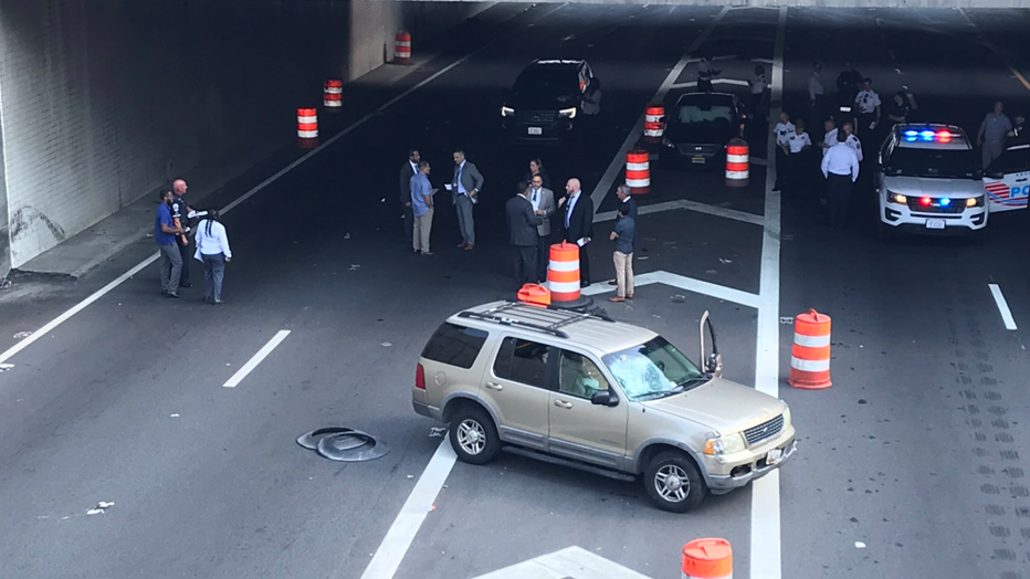 Man shot in 3rd Street Tunnel after crash escalates into