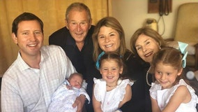 George W. Bush welcomes first grandson as daughter Jenna has third child